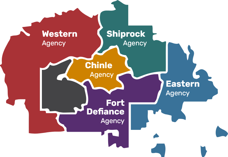 navajo nation agency map