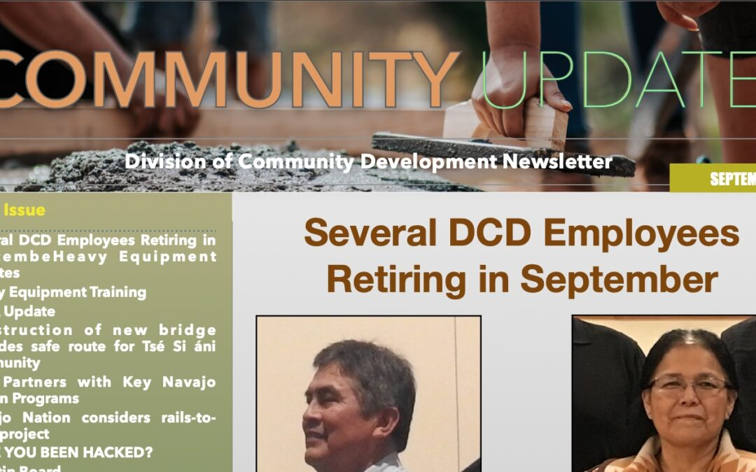 September 2021 Edition of DCD Newsletter Available Now